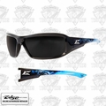 Edge Eyewear XB116-A2 Brazeau Apocalypse 2 - Black/Smoke Lens Safety Glasses