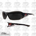 Edge Eyewear XB116-P1 Brazeau Patriot 1 - Black / Smoke Lens Safety Glasses