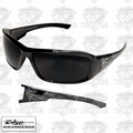 Edge Eyewear XB116-S Brazeau - Black Skull Series/Smoke Lens Safety Glasses