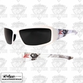 Edge Eyewear XB146-C2 Brazeau Velocity 2 - White / Smoke Lens Safety Glasses