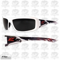 Edge Eyewear XB146-P2 White / Smoke Lens Safety Glasses Brazeau Patriot 2