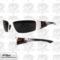 Edge Eyewear XB146-V2 Brazeau Vigilante 2 - White/Smoke Lens Safety Glasses