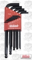 "Eklind 13213 13 pc .0500-5/16"" Long Arm Ball End L-Hex Key Set"