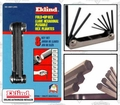 "Eklind 20811 8 pc .050"" - 5/32"" Folding Hex Key Set"