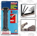 "Eklind 20911 9 pc 5/64"" - 1/4"" Folding Hex Key Set"