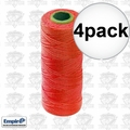 Empire 39713N 4pk 500' Orange Braided Construction/Mason Line