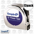 "Empire 612 12pk 5/8"" x 12' Chrome Tape Measure"