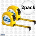 "Empire 6926 2pk 1"" x 25' Tape Measure"