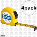 "Empire 6926 4pk 1"" x 25' Tape Measure"