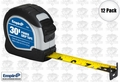 "Empire 7530 12pk 1"" x 30' Power Grip Tape Measure"