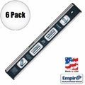 "Empire EM81.12 6pk 12"" True Blue Magnetic Level"