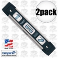 "Empire EM81.9 2pk 9"" Magnetic True Blue Torpedo Level"