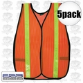 ERB 14601 5pk Reflective Safety Vest 5 Pack