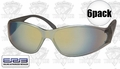 ERB 15406 Boas Brown Silver Mirror Lens Safety Glasses