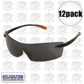 ERB 16651 12pk Safety Glasses Retro 77 Black/Smoke Lens