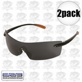 ERB 16651 2pk Safety Glasses Retro 77 Black/Smoke Lens