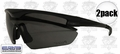 ERB 16701 2pk Smoke Lens Point Safety Glasses