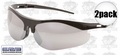 ERB 16720 2pk Mirror Safety Glasses 'Survivors'
