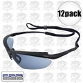ERB 16858 12pk Mirror Lens Safety Glasses Maltese Black/Blue