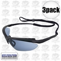 ERB 16858 3pk Mirror Lens Safety Glasses Maltese Black/Blue