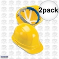 ERB 19952 2pk Yellow Ratcheting Omega II Hard Hat