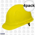 ERB 19952 4pk Yellow Ratcheting Omega II Hard Hat