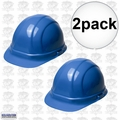 ERB 19956 2pk Blue Ratcheting Omega II Hard Hat