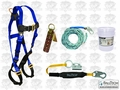 FallTech 8593A Roofers Fall Protection Harness Tether Lanyard more