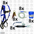 FallTech 8595A 8x 5pc Contractor Complete Roofer's Kit