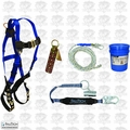 FallTech 8595A 5pc Contractor Complete Roofer's Kit