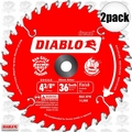 "Freud D0436X 2pk 4-3/8"" x 36 Tooth Diablo Cordless Trim Saw Blades"