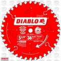 "Freud D0536X 5-3/8"" x 36 Tooth Diablo Cordless Trim Saw Blade"