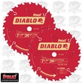 "Freud D0724A 2-Pk 7-1/4"" x 24T Diablo Carbide Framing Saw Blade"