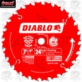 "Freud D0724A 7-1/4"" x 24 Tooth Diablo Carbide Framing Saw Blade"