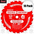 "Freud D0724DA 10pk 7-1/4"" x 24T Diablo Demo Demon Circ Saw Blade"