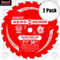 "Freud D0724DA 2pk 7-1/4"" x 24T Diablo Demo Demon Circular Saw Blade"
