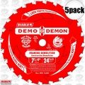 "Freud D0724DA 5pk 7-1/4"" x 24T Diablo Demo Demon Circular Saw Blade"