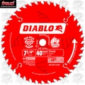 "Freud D0740A 7-1/4"" x 40 Tooth Diablo Carbide Circular Saw Blade"