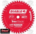 "Freud D0744CD 7-1/4"" x 44 Tooth Diablo Composite Trex Decking Blade"