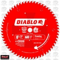 "Freud D0860S 8-1/2"" x 60 Tooth Diablo Sliding Miter Saw Blade"