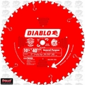 "Freud D1040W 10-1/4"" x 40T Diablo ATB General Purpose Saw Blade"