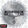 "Freud LM72M010 10"" x 24 Tooth Flat Carbide Industrial Rip Blade"