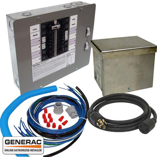 Generac 6295 Generator Transfer Switch Kit 30a 10~16 Circuits