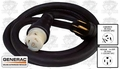 Generac 6389 Generator to Transfer Switch Power Cord 6/4 Rubber 25'