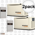 Generac 6462 2pk 16,000 Watt Air Cooled Standby Generator