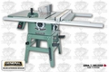 General Woodworking Machinery 50-185LM1 Builders Table Saw