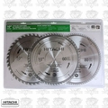Hitachi 115166 40T, 60T and 80T Thin-Kerf Miter Saw Blade 3Pk