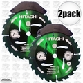 "Hitachi 115300 2pk 7-1/4"" x 24TH Green Urethane-Coated Circular Saw Blade"