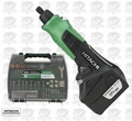 Hitachi GP10DL Cordless Mini Die Grinder Rotary Tool + 200pc Accy Kit
