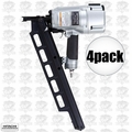 "Hitachi NR83A3 4pk 3-1/4"" Plastic Collated Framing Nailer w/ Dpth Adjustment"